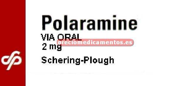 Caja POLARAMINE 2 mg 20 comprimidos
