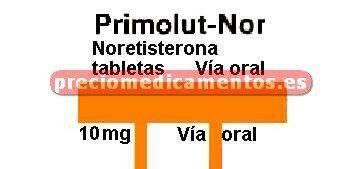 Caja PRIMOLUT NOR 10 mg 30 comprimidos