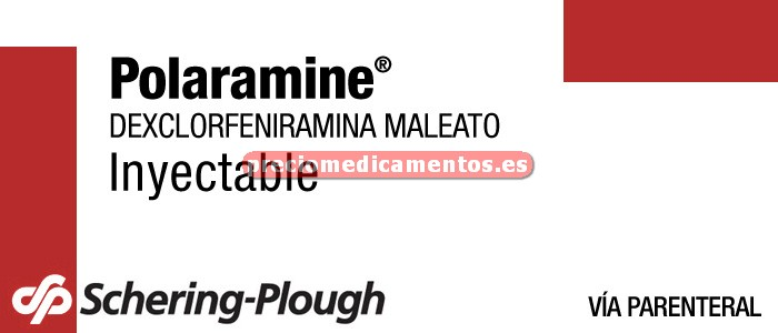 Caja POLARAMINE 5 mg 5 ampollas 1 ml