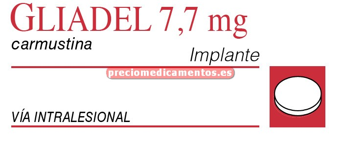 Caja GLIADEL 7,7 mg 8 implantes