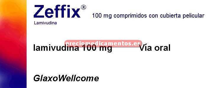 Caja ZEFFIX 100 mg 28 comprimidos recubiertos