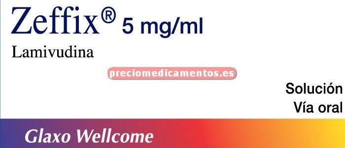 Caja ZEFFIX 25 mg/5 ml solución oral 240 ml