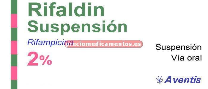 Caja RIFALDIN 100 mg/5 ml suspensión 120 ml