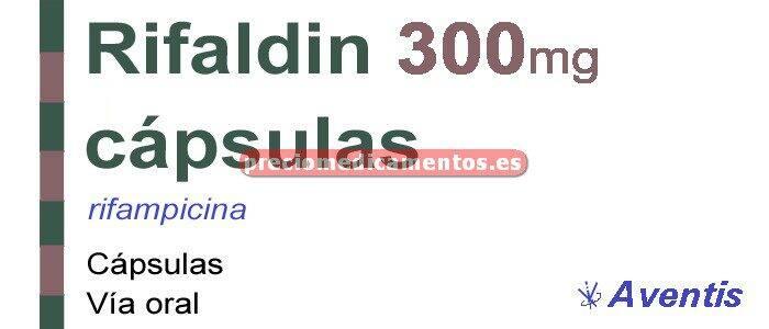 Caja RIFALDIN 300 mg 24 cápsulas