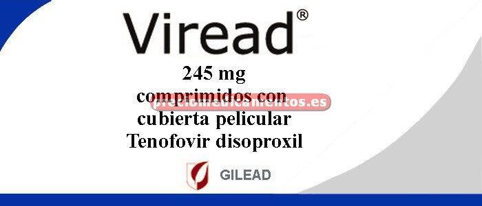 Caja VIREAD 245 mg 30 comprimidos recubiertos