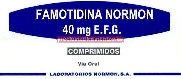 Caja FAMOTIDINA NORMON EFG 40 mg 28 comprimidos cub pel