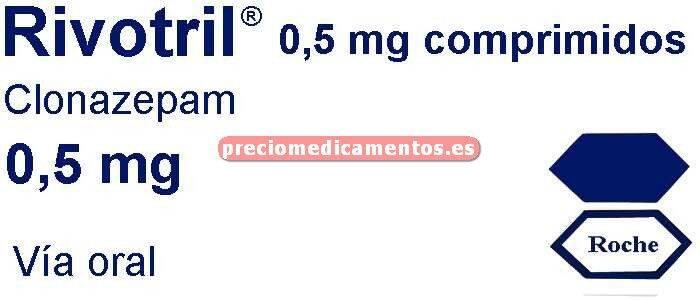 Caja RIVOTRIL 0.5 mg 60 comprimidos