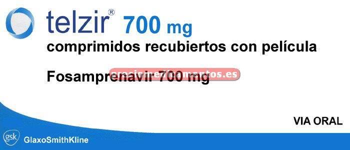 Caja TELZIR 700 mg 60 comprimidos recubiertos
