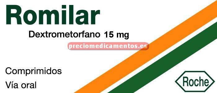 Caja ROMILAR 15 mg 20 comprimidos
