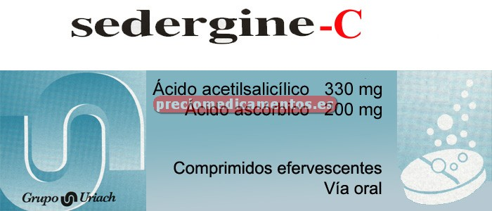 Caja SEDERGINE C 330/200 mg 20 comprimidos efervesc