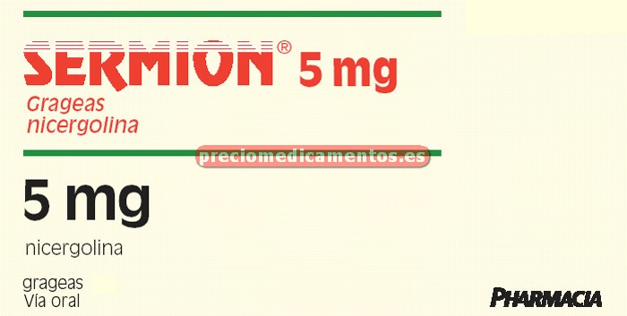 Caja SERMION 5 mg 45 grageas