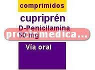 Caja CUPRIPEN 50 mg 30 comprimidos
