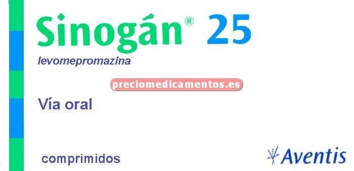 Caja SINOGAN 25 mg 20 comprimidos
