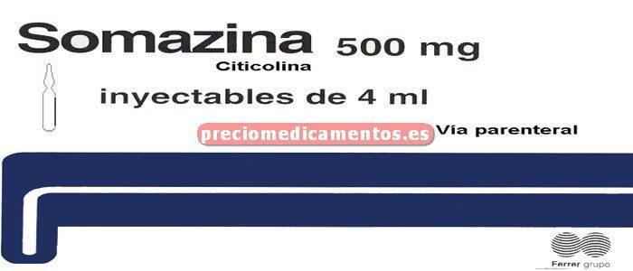 Caja SOMAZINA 500 mg 5 ampollas 4 ml