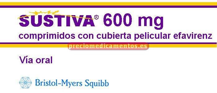 Caja SUSTIVA 600 mg 30 comprimidos recubiertos