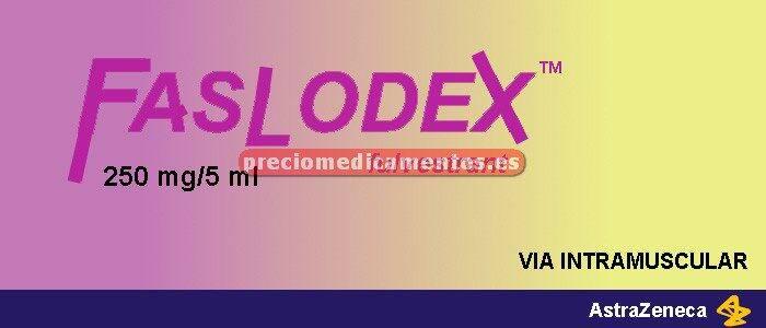 Caja FASLODEX 250 mg/5 ml 1 jeringa precargada