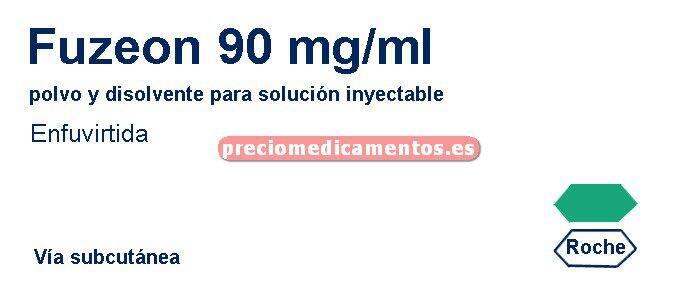 Caja FUZEON 90 mg/ml 60 viales - 60 disol - 60 jeringas