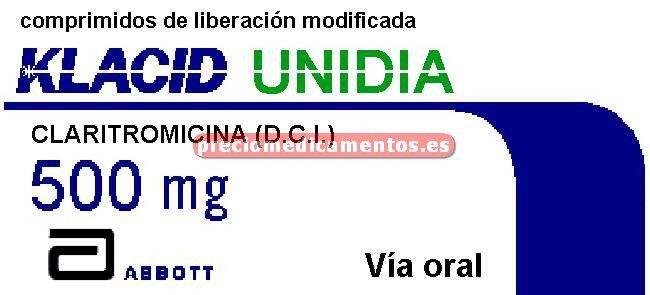 Caja KLACID UNIDIA 500 mg 14 comprimidos liber control