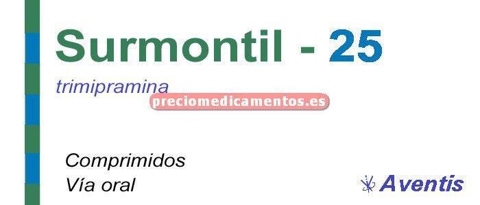 Caja SURMONTIL 25 mg 50 comprimidos