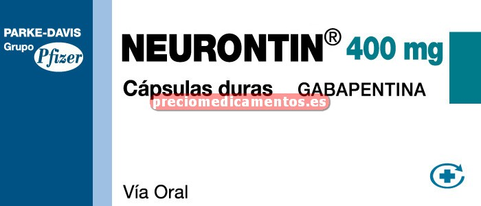 Caja NEURONTIN 400 mg 30 cápsulas