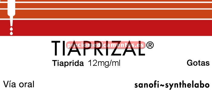 Caja TIAPRIZAL 12 mg/ml gotas 60 ml