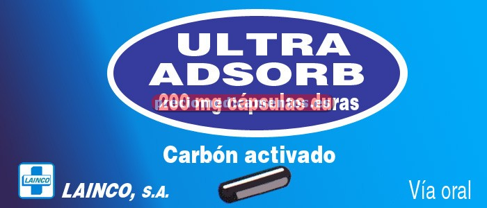 Caja ULTRA ADSORB 200 mg 30 cápsulas