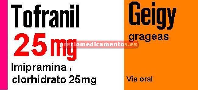 Caja TOFRANIL 25 mg 50 grageas