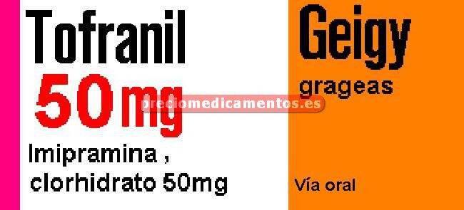 Caja TOFRANIL 50 mg 30 grageas