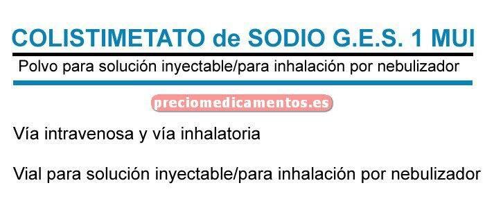 Caja COLISTIMETATO DE SODIO G.E.S. 1MUI 10 vial iny/inh