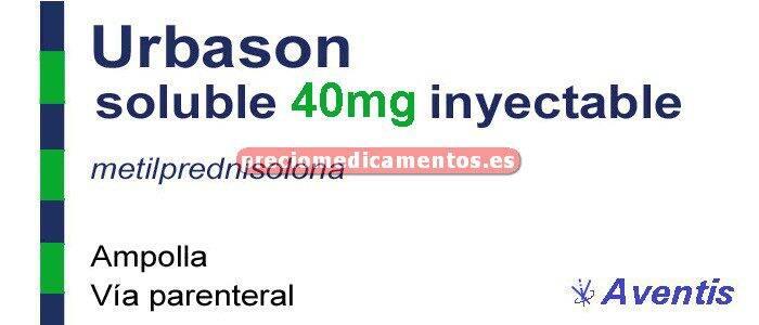 Caja URBASON SOLUBLE 40 mg 3 ampollas