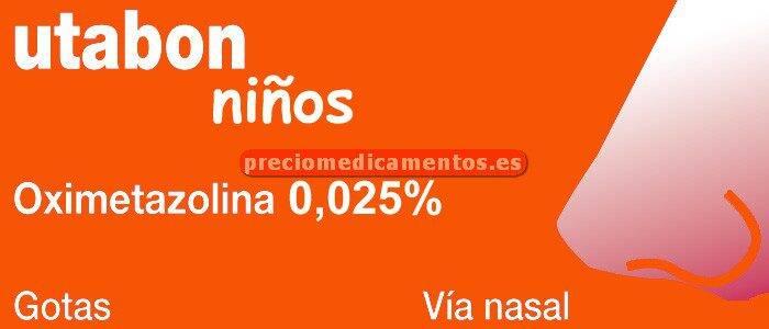 Caja UTABON NIÑOS 0,25 mg/ml gotas nasales soluc 15 ml