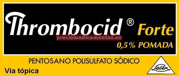 Caja THROMBOCID FORTE 0,5% pomada 1 tubo 60 g