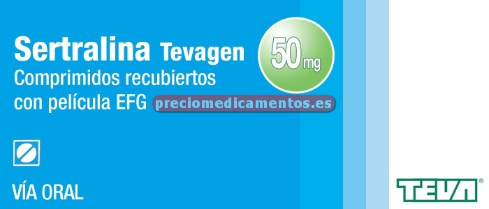 Caja SERTRALINA TEVAGEN EFG 50 mg 30 comprimidos recub