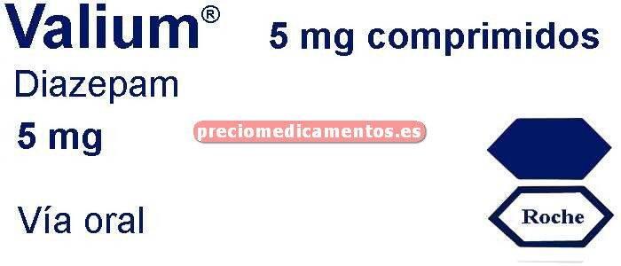Caja VALIUM 5 mg 30 comprimidos