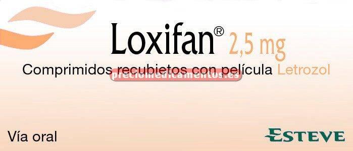 Caja LOXIFAN 2,5 mg 30 comprimidos cubierta pelicular