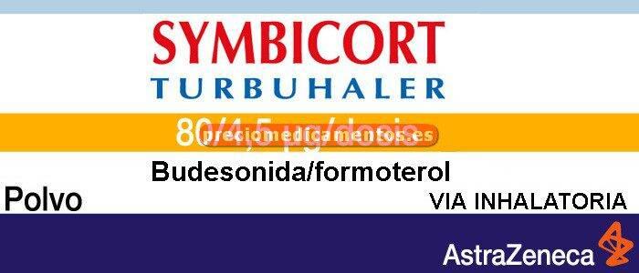 Caja SYMBICORT TURBUHALER 80/4.5 mcg/dosis polvo 1 inhalador 120 dosis