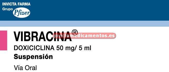 Caja VIBRACINA 50 mg/5 ml suspensión oral 60 ml