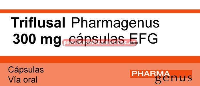 Caja TRIFLUSAL PHARMAGENUS EFG 300 mg 30 cápsulas
