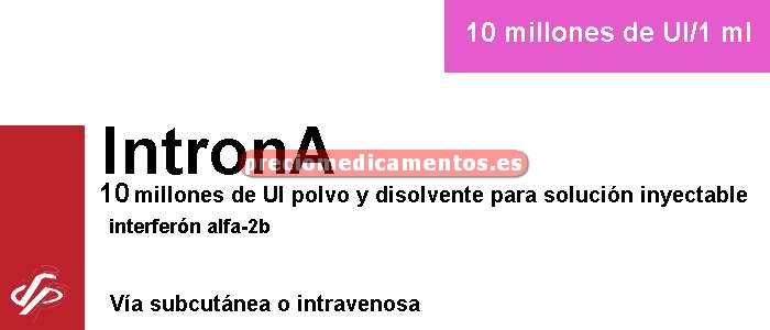 Caja INTRONA 10 MILL UI vial soluc-jer monodosis 1 ml