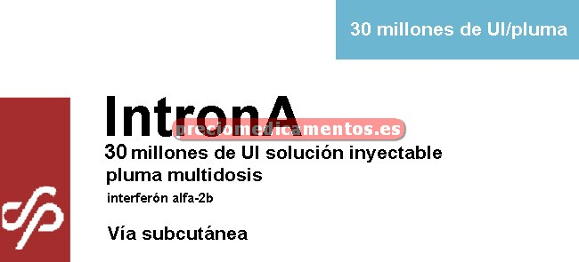 Caja INTRONA 30 mill UI pluma multidosis 1,2 ml 6 dosis