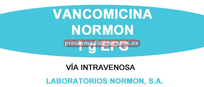 Caja VANCOMICINA NORMON EFG 1 g IV 1 vial polvo 20 ml