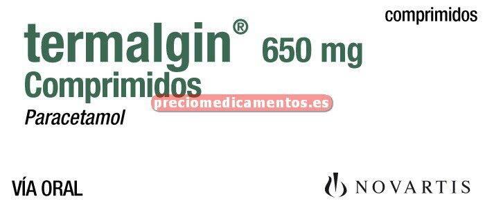 Caja TERMALGIN 650 mg 20 comprimidos