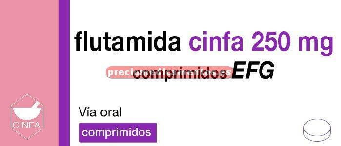 Caja FLUTAMIDA CINFA EFG 250 mg 50 comprimidos