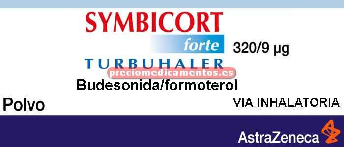 Caja SYMBICORT FORTE TURBUHALER 320/9mcg polvo inh 120D