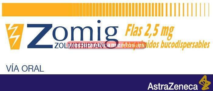 Caja ZOMIG FLAS 2.5 mg 6 comprimidos bucodispersables