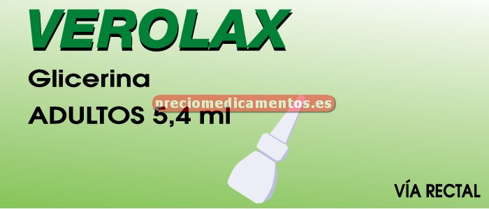 Caja VEROLAX SOL RECTAL 5,4 ml 6 enemas ADULTOS 7,5 ml