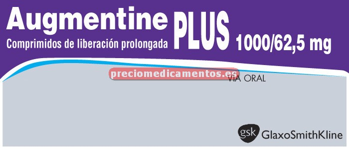 Caja AUGMENTINE PLUS 1000/62,5 mg 28 compr lib prolongada