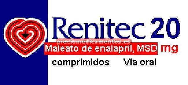 Caja RENITEC 20 mg 28 comprimidos