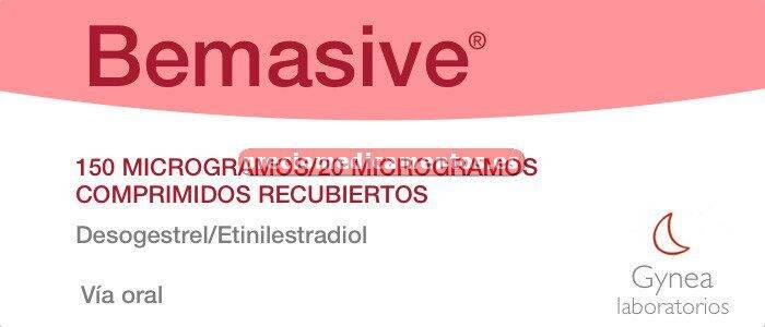 Caja BEMASIVE 0,15/0,02 mg 21 comprimidos recubiertos