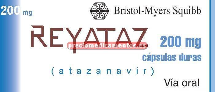 Caja REYATAZ 200 mg 60 cápsulas